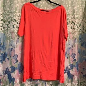 Lands End Coral tunic top 1X